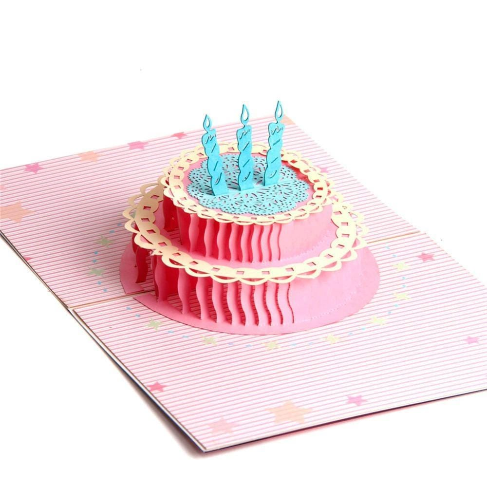 Colorful  Cake 3D Pop up Birthday Greeting Card