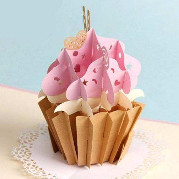 Cup Cake 3D Pop up Greeting Card