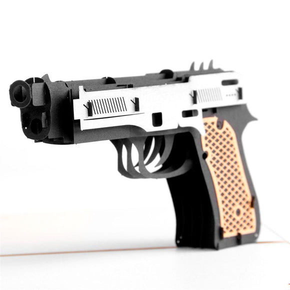 Gun 3D Pop up Greeting Card