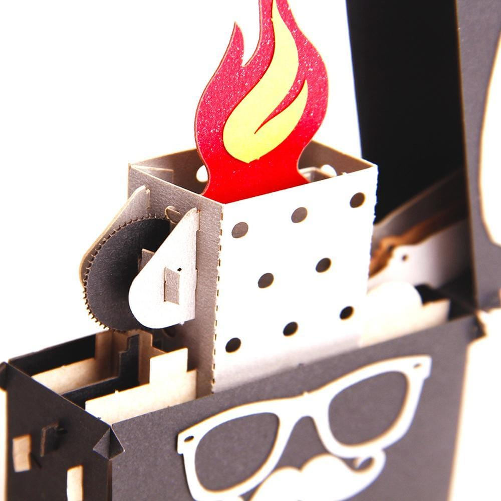 Lighter 3D Pop up Greeting Card