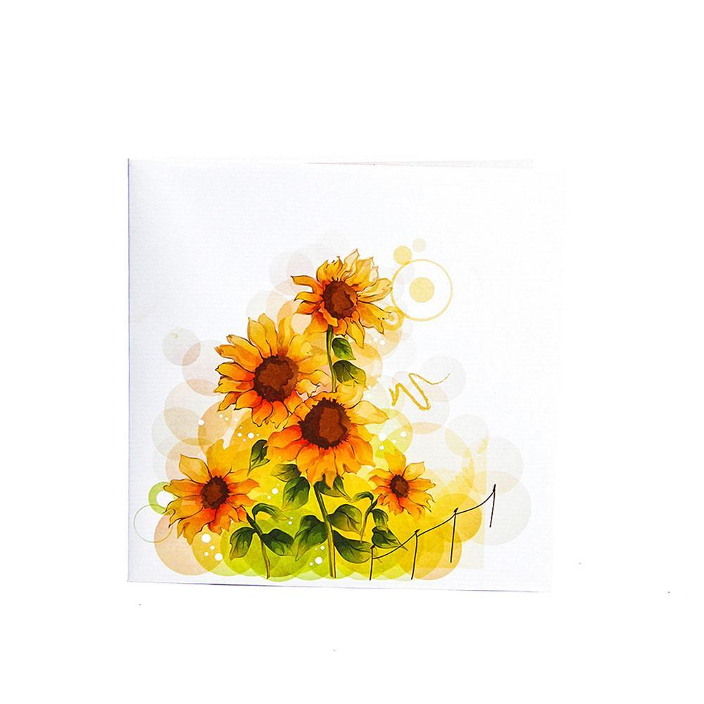 Colorful Sunflower 3D Pop up Greeting Card