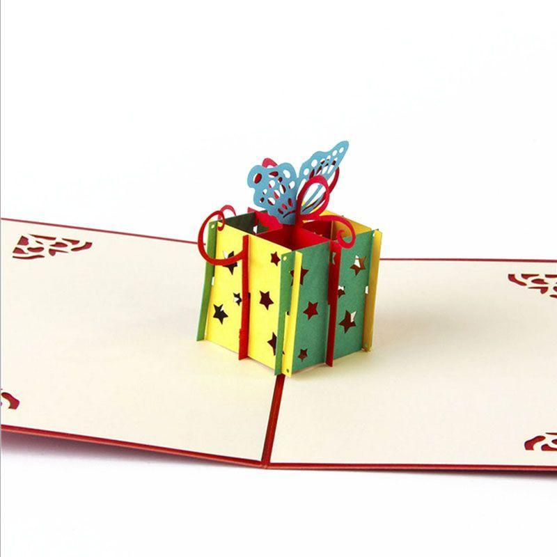 3D Pop UP Butterfly Birthday Greeting Card-Red