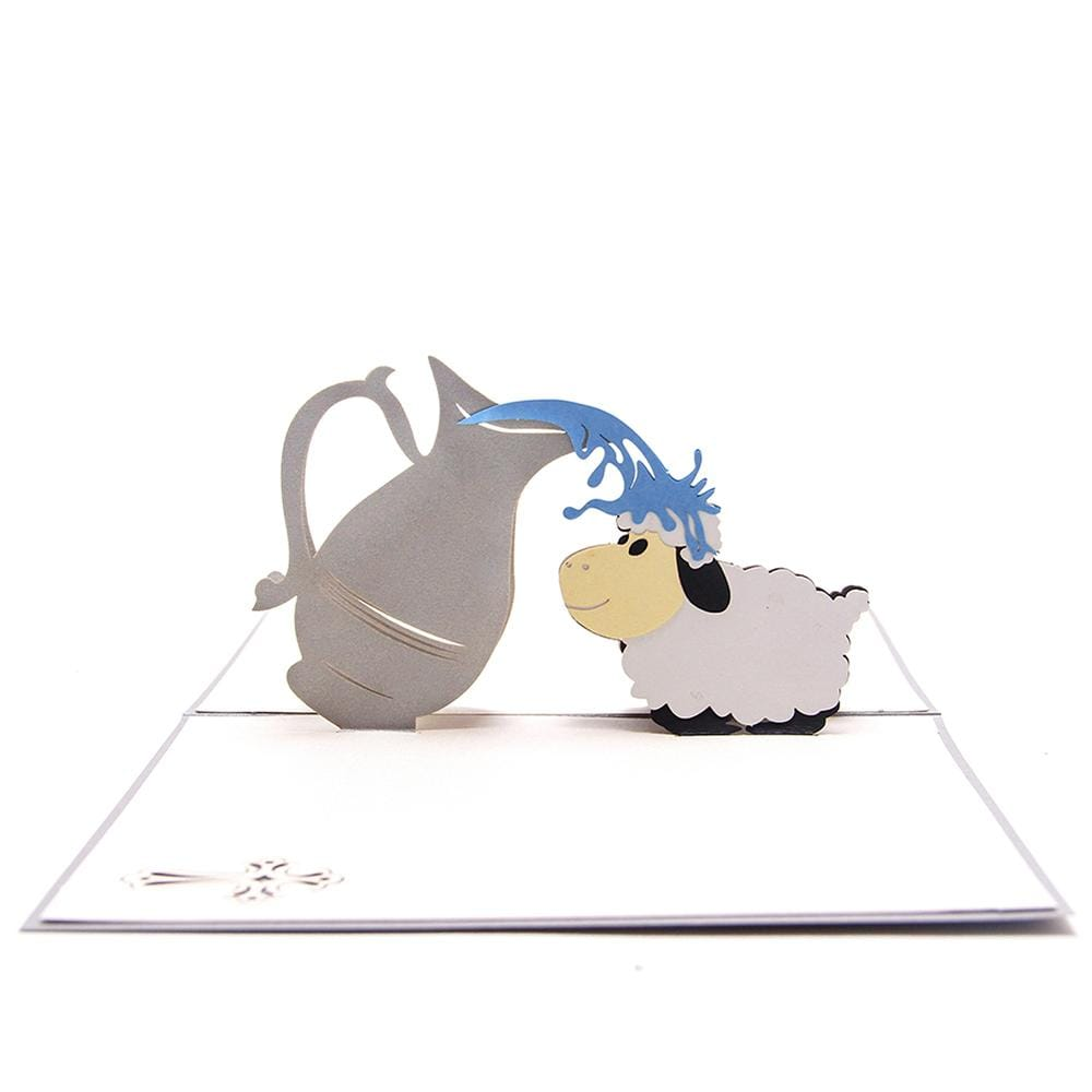 Baptism Card 3D Pop up Greeting Card