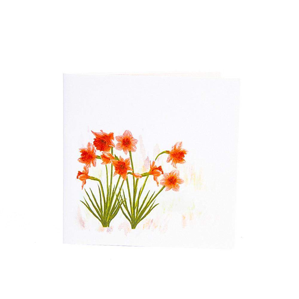 Colourful Daffodil 3D Pop up Greeting Card