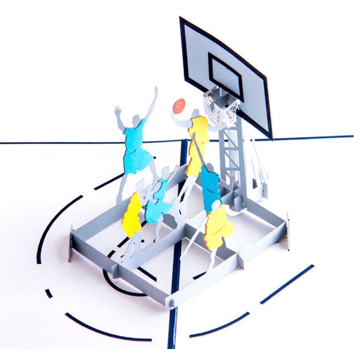 Basketball Pop Up Greeting Card