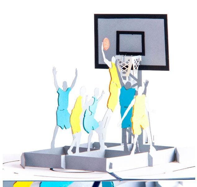 3D pop up Basketball  Greeting Card