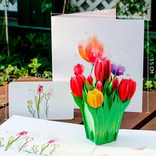 Tulip Pop Up Greeting Card