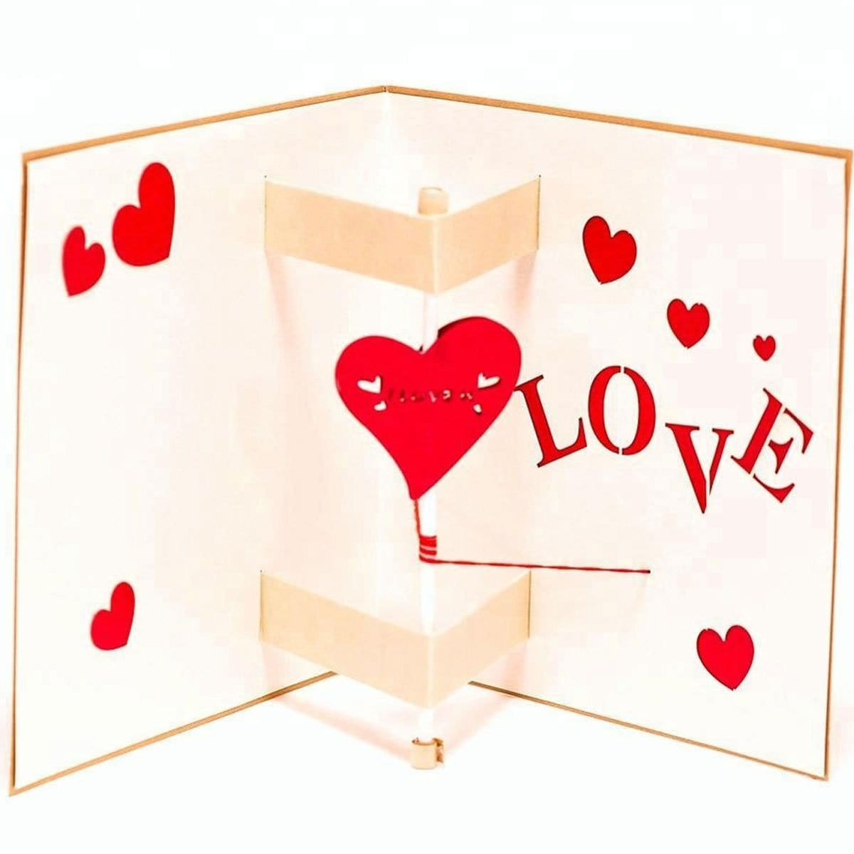 Knock My Heart Pop Up Greeting Card