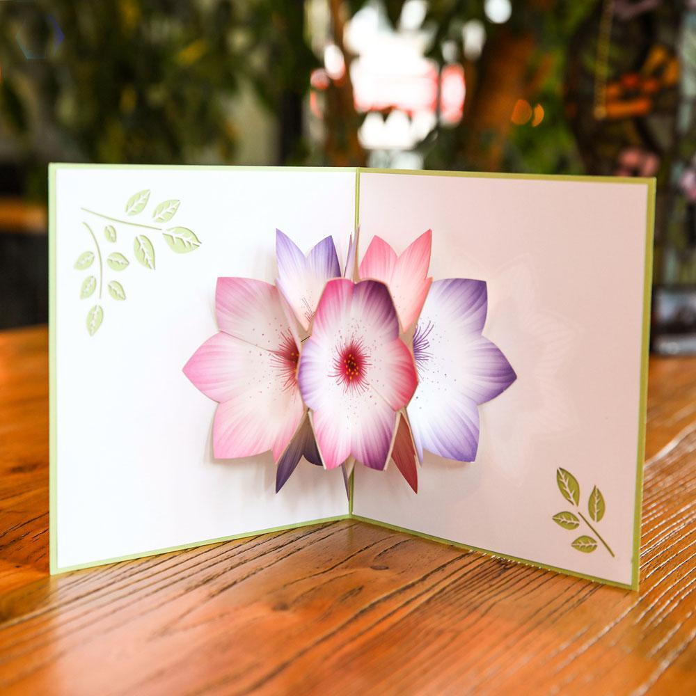 Rainbow Flower Pop Up Greeting Card