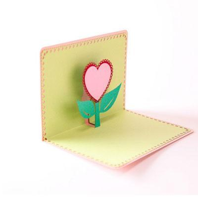 Heart Flower Pop Up Greeting Card