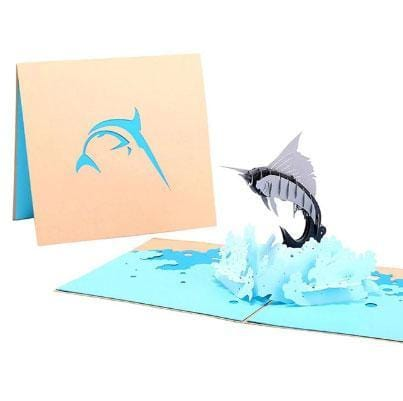Sailfish Pop Up Greeting Card