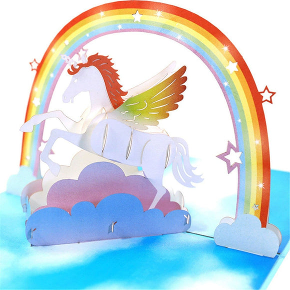 Unicorn Pop Up Greeting Card