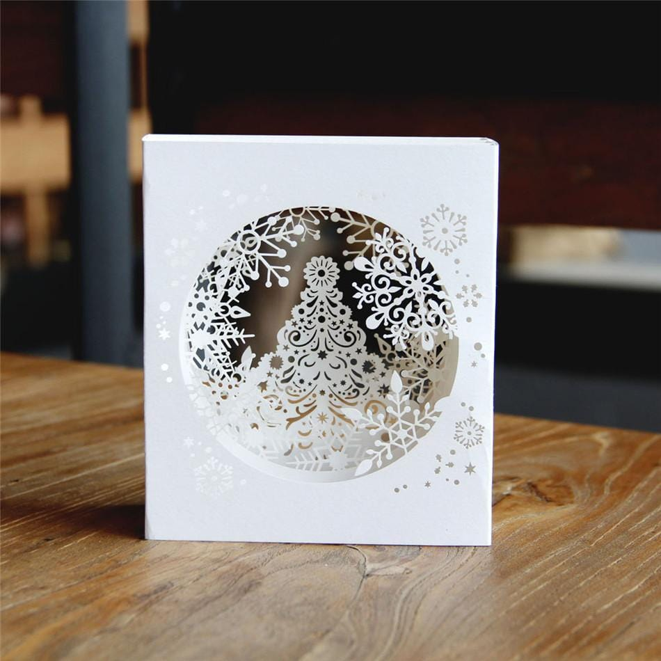 Snowflake Box Pop Up Greeting Card