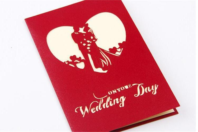 3D Pop Up Wedding Day - Wedding anniversary Greeting card
