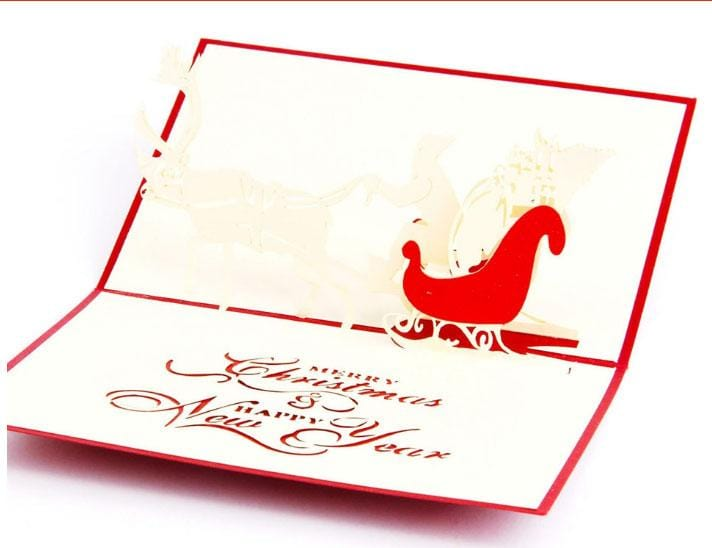 Santa Ride Pop Up Greeting Card