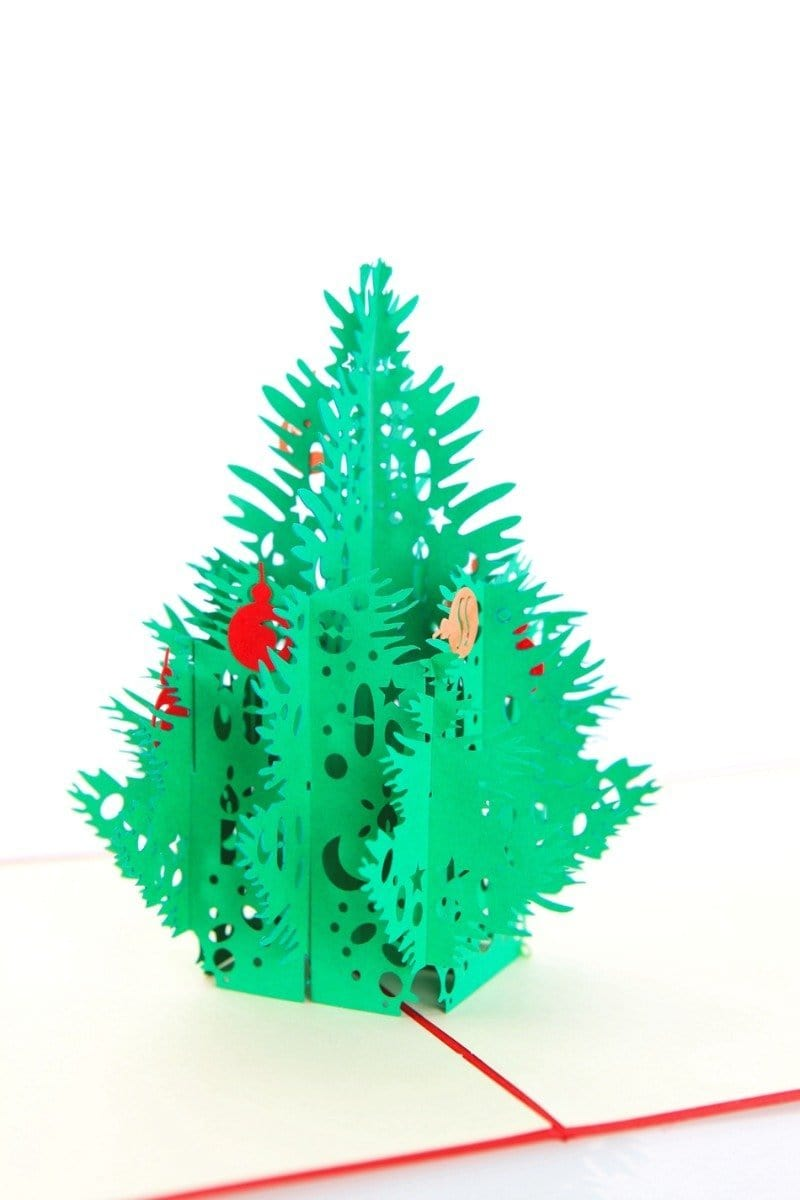 Merry Christmas Tree Pop Up Greeting Card