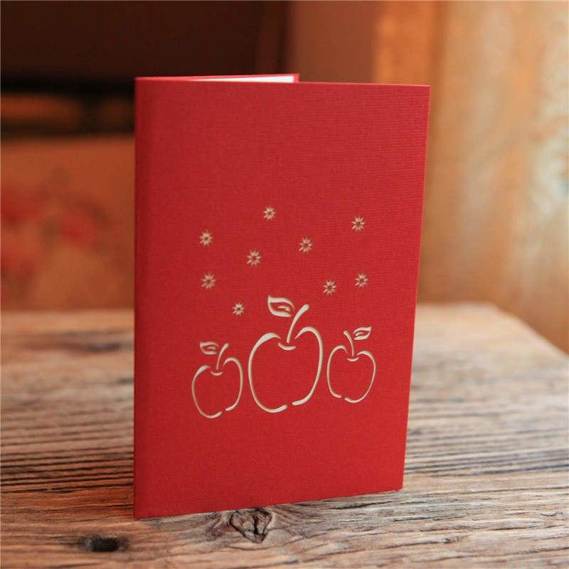 Christmas Apple Pop Up Greeting Card