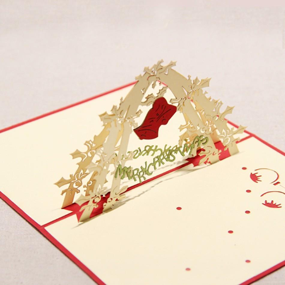 Christmas Bell Pop Up Greeting Card