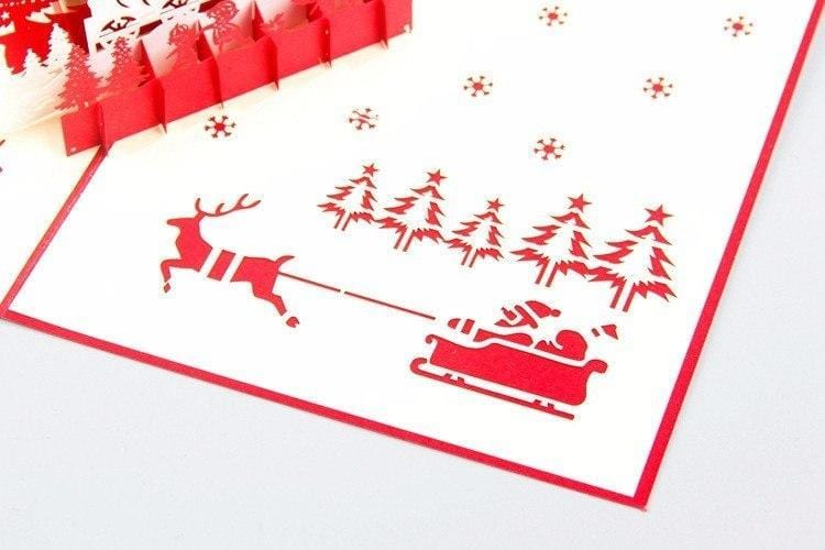 Christmas Eve Card Pop Up Greeting Card