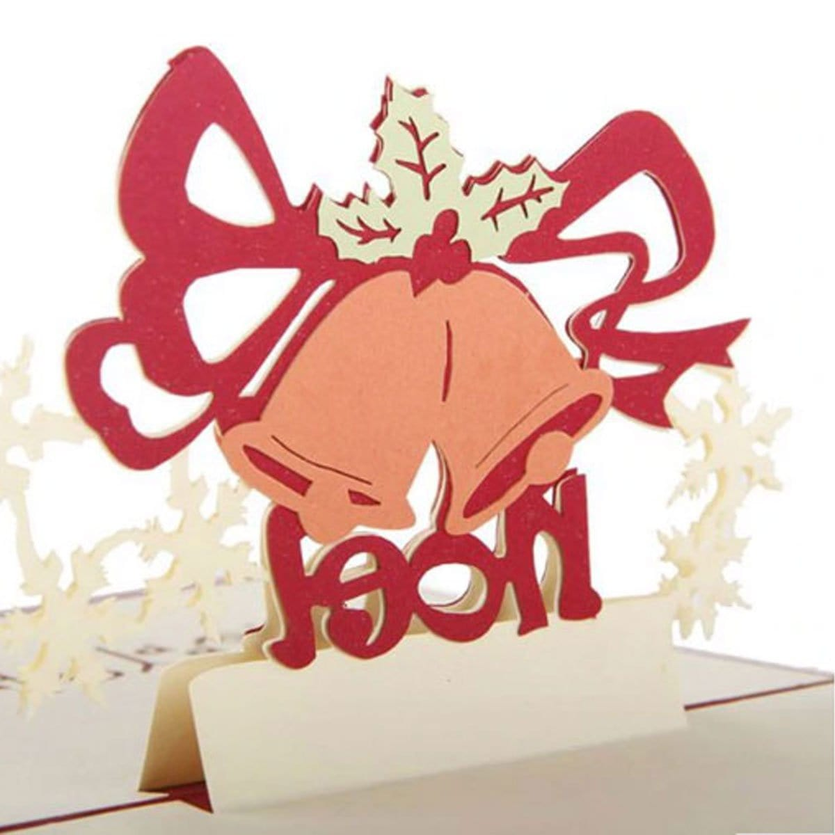 Christmas Gift Bell Pop Up Greeting Card