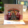 Colorful 9 deree Tree Pop Up Greeting Card
