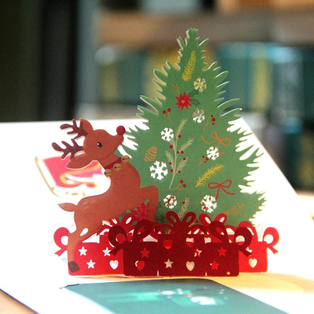 3D Mery Christmas Tree Pop Up Greeting Card
