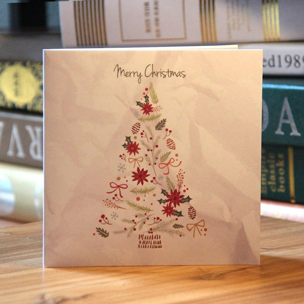 3D Merry Christmas Tree Pop Up Greeting Card