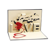 Handmade 3D Pop up - Love - Greeting Card