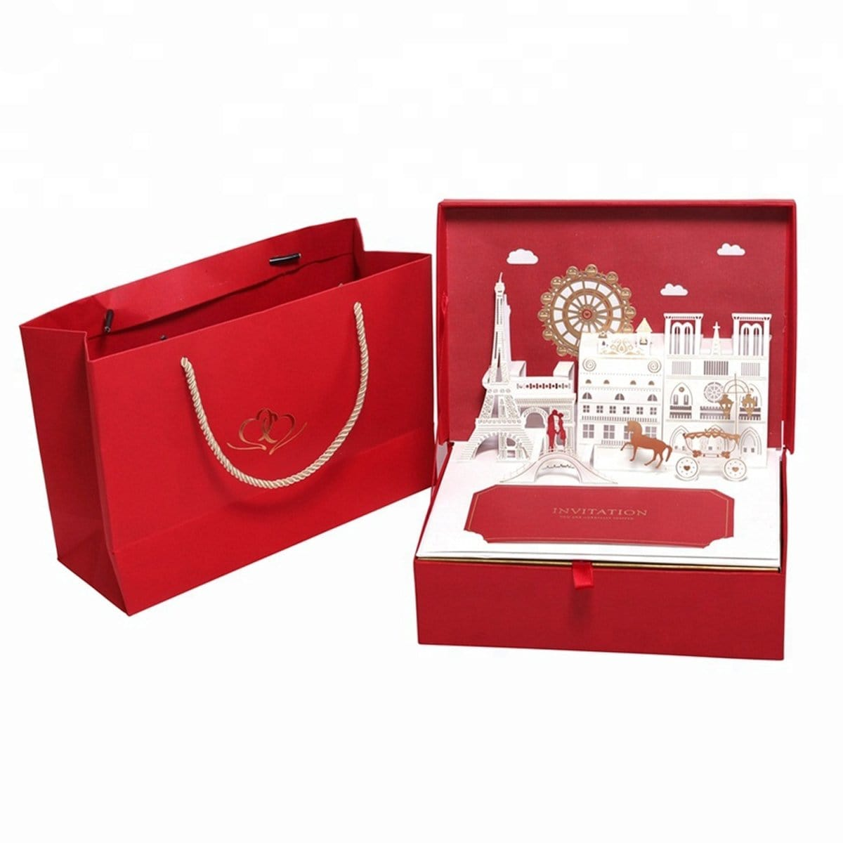 Heart Gift Box-Red