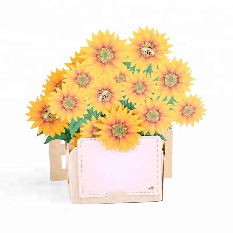 Sunflower Garden Pop up Greeting Card