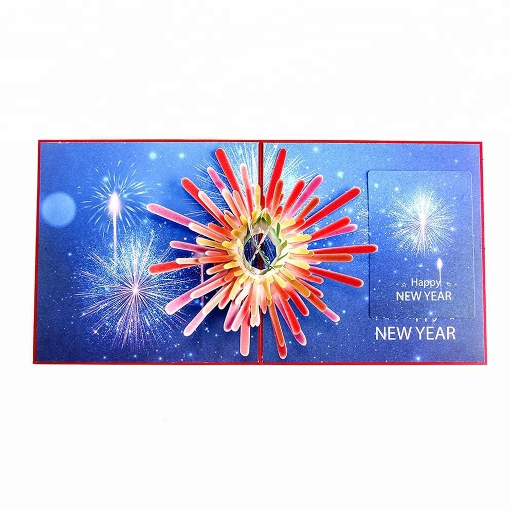 Happy New Year Pop up Greeting Card