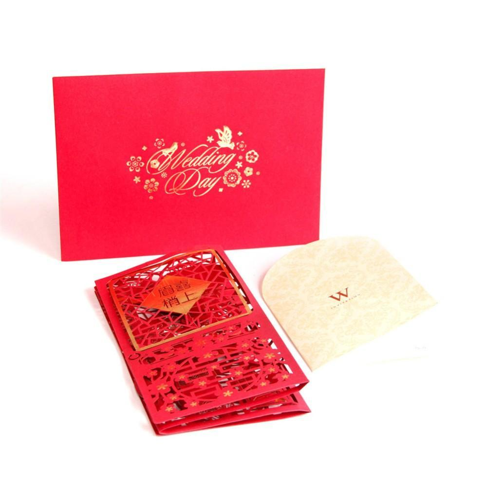 Chinese Traditional Wedding invitation Greeting Card