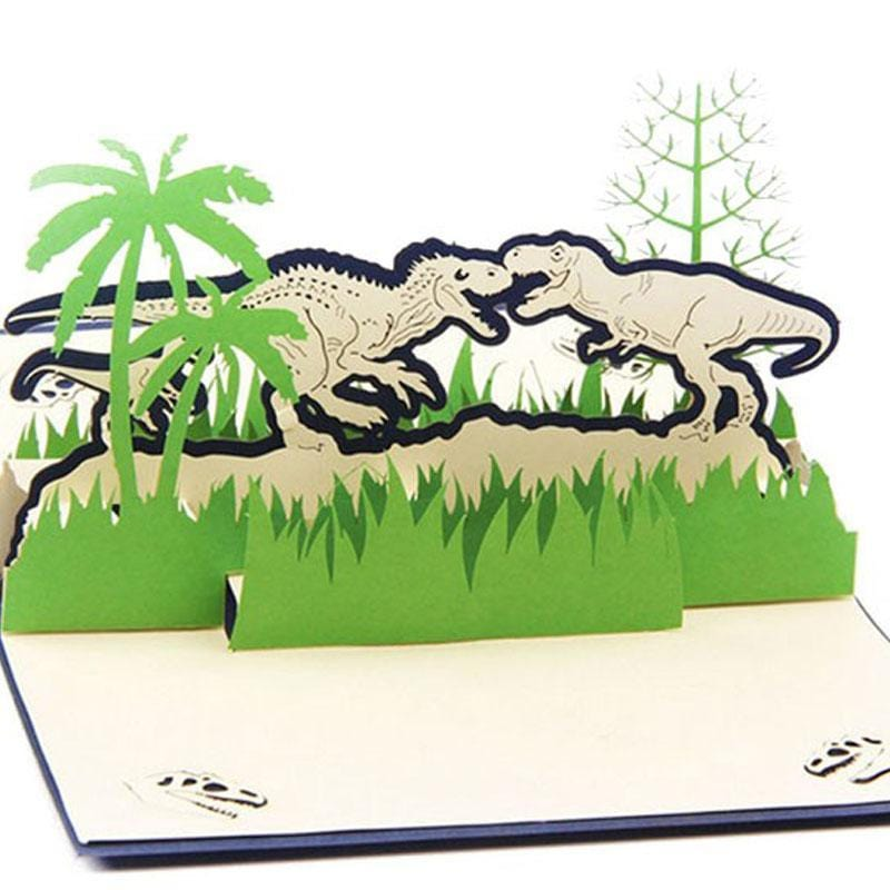 3D Dinosaur Pop up Greeting Card