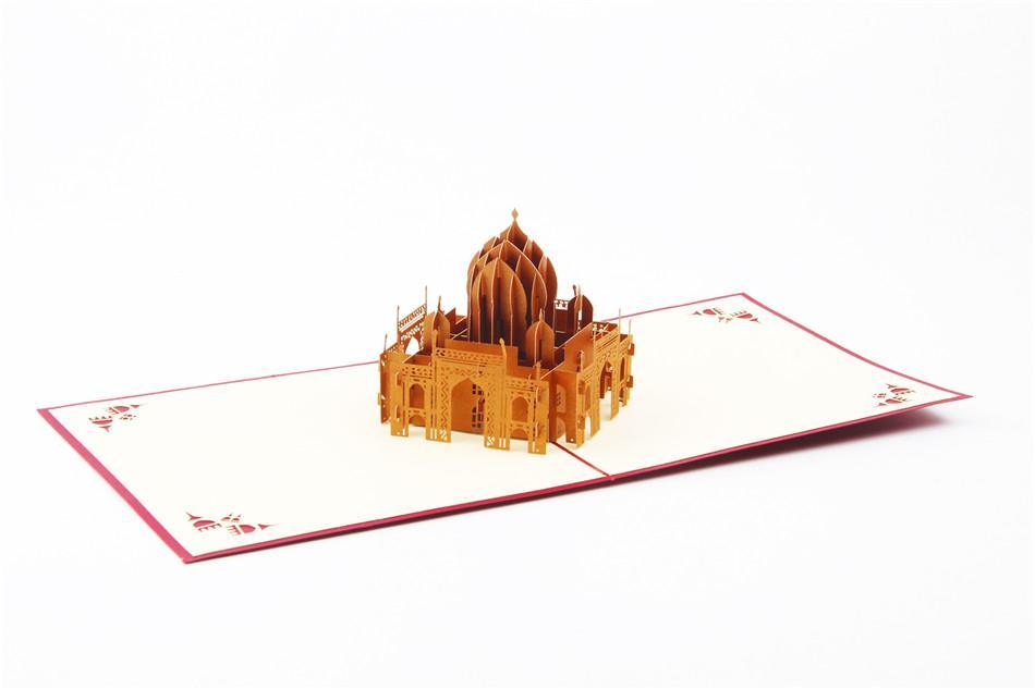 3D Pop Up Handmade Taj Mahal Greeting Card
