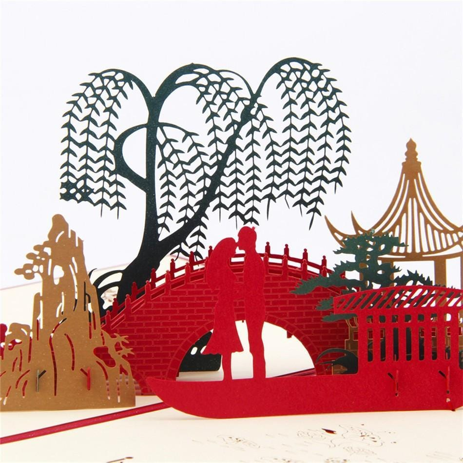 3D Pop Up Love under the bridge - Valentine's Day Card