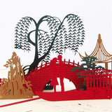 3D Pop Up Love under the bridge Card