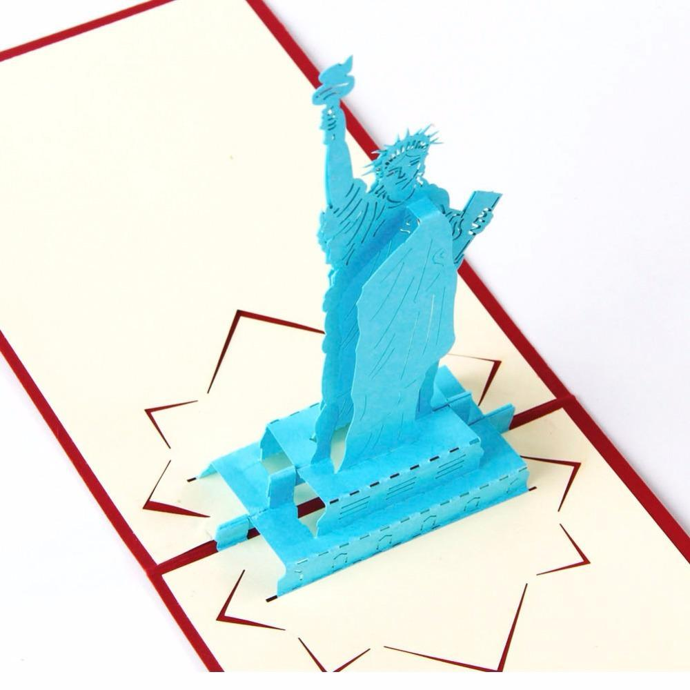 Statue Liberty Pop up Greeting Card