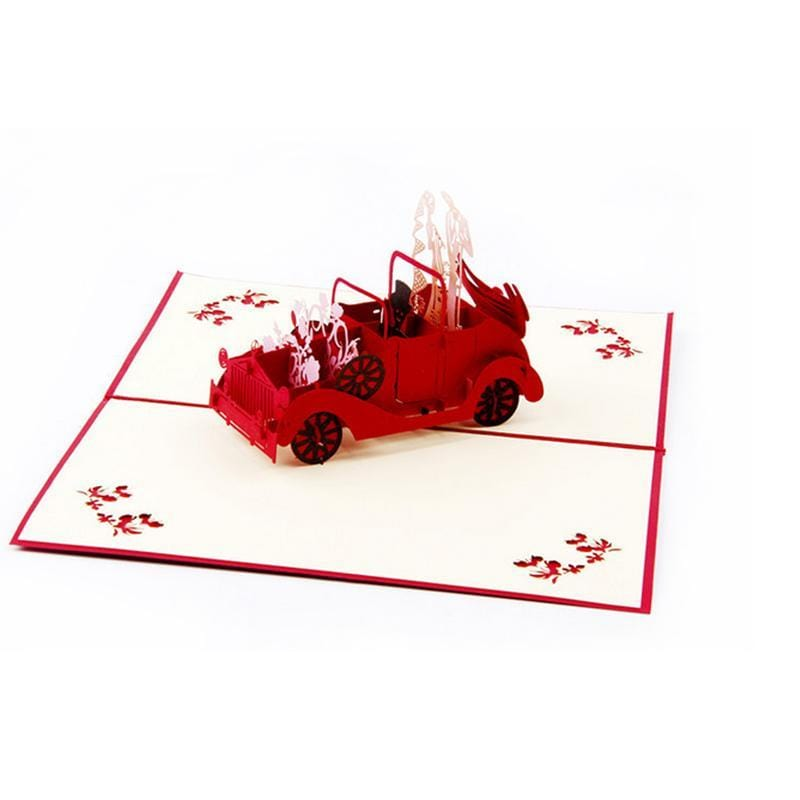 3D Pop Up Wedding Couple Card