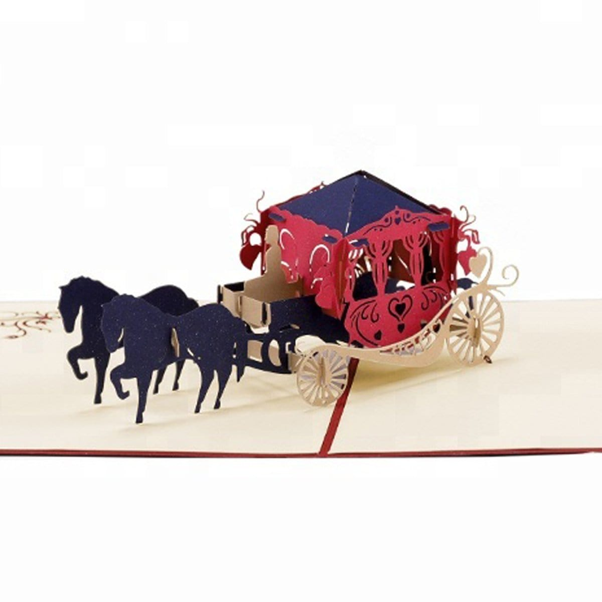 Wedding Carriage 3D Pop up Wedding Greeting Card