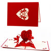 3D Pop Up Handmade Cupid Heart Greeting Card