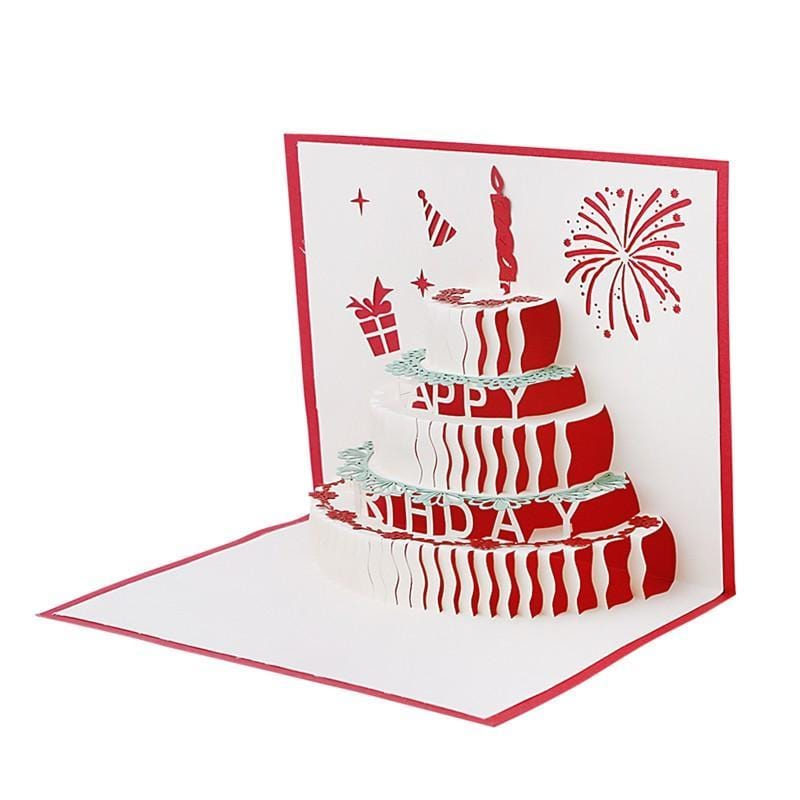 3D Pop Up Birthday Cake Greeting Card