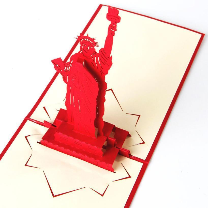 Statue of Liberty 3D Pop Up Greeting Card