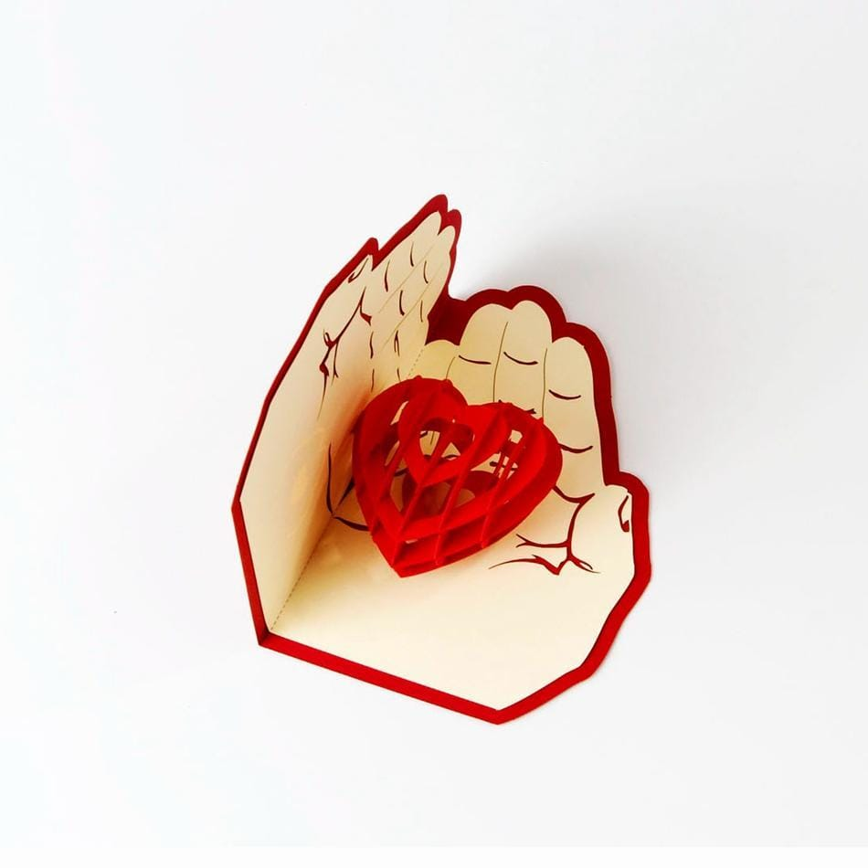 Handmade 3D Pop Up Love Card