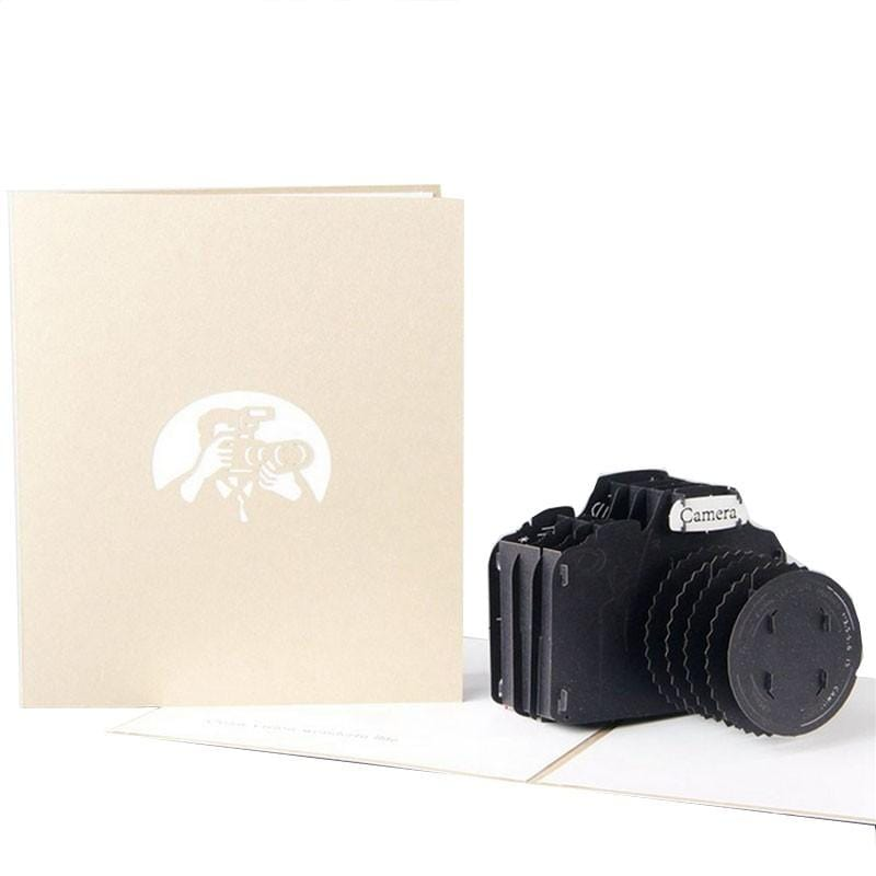 3D pop up Camera Greeting Card