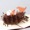 3D pop up Birds Nest Handmade Card for Mother's day
