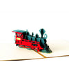 3D Pop Up Retro Train Card for All Occassion