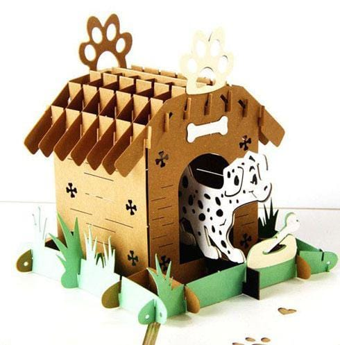 Creative Dog House 3d Pop Up Card