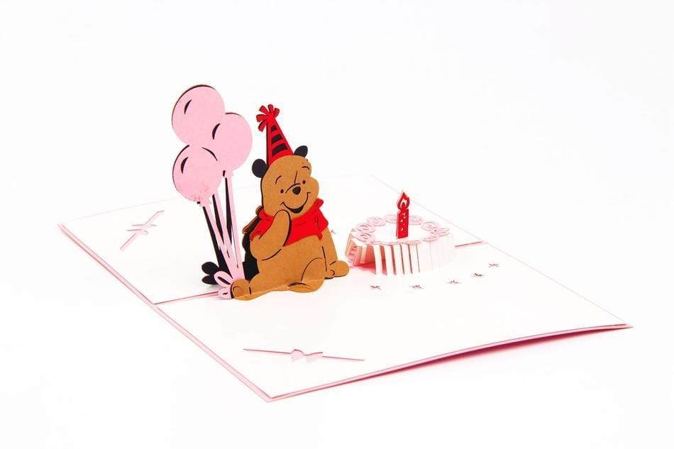 Cute Bear 3D Pop Up Happy Birthday Card