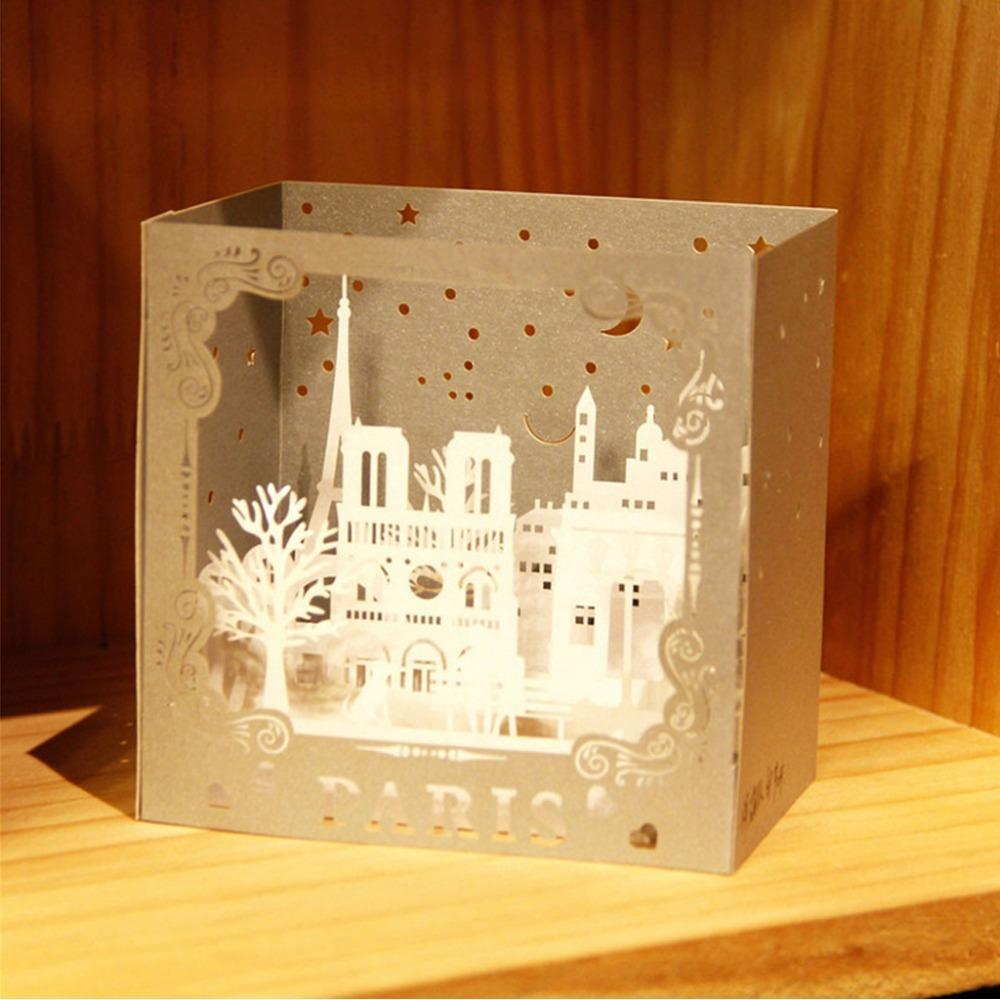 3D Pop Up Paris Sculpture Box Greeting Card