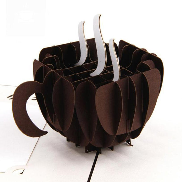 3d Pop Up Coffee Cup Greeting Card